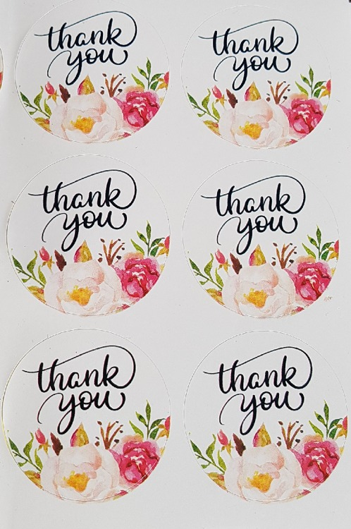 Label Thank You 6 stuks