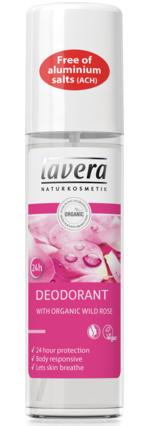 natuurlijke biologische deodorantspray wilde roos